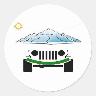 jeep4 round sticker