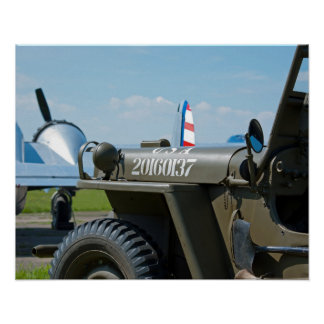 Jeep and Beechcraft Poster