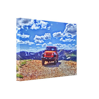 Jeep mountain adventure canvas