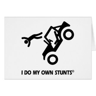 Jeep My Own Stunts Greeting Cards