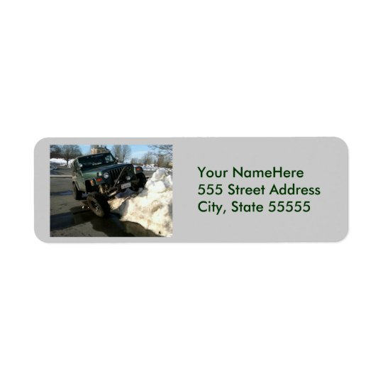 Jeep Return Address2 Return Address Label
