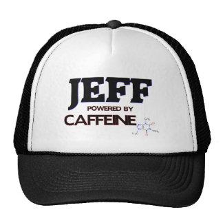 Jeff Powered by Caffeine Trucker Hats