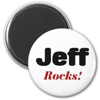 Jeff rocks 6 cm round magnet