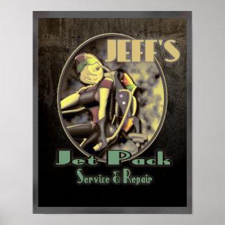 Jeff s Jet Pack Service Repair Posters