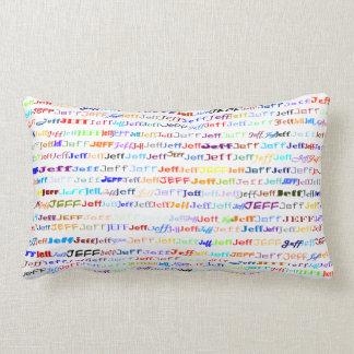 Jeff Text Design II Lumbar Pillow Cushion