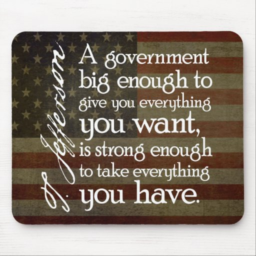 Jefferson: Beware of Big Government Mousepad