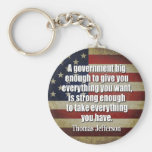 Jefferson: Big Governement will take everything... Basic Round Button Key Ring