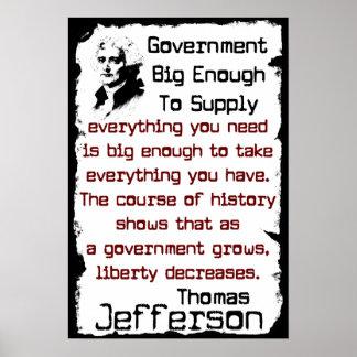 Jefferson: Big Government Poster