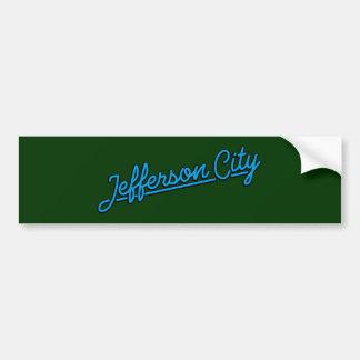 Jefferson City in cyan Bumper Sticker