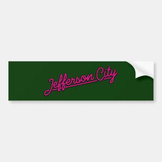 Jefferson City in magenta Bumper Stickers