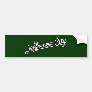 Jefferson City in white Bumper Sticker