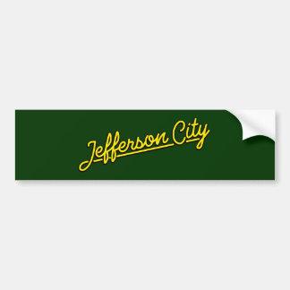 Jefferson City in yellow Bumper Sticker