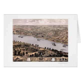 Jefferson City, MO Panoramic Map - 1869 Card