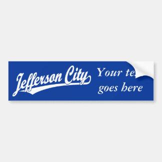 Jefferson City script logo in white Bumper Sticker