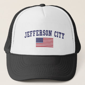 Jefferson City US Flag Trucker Hat