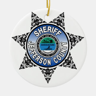 Jefferson County Tennessee Sheriff Badge Round Ceramic Decoration