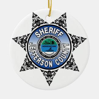 Jefferson County Tennessee Sheriff Badge Round Ceramic Decoration
