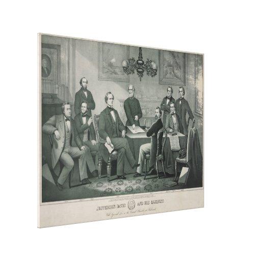Jefferson Davis and cabinet in Richmond Capitol Gallery Wrap Canvas