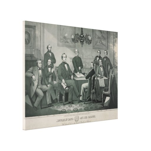 Jefferson Davis and cabinet in Richmond Capitol Stretched Canvas Prints
