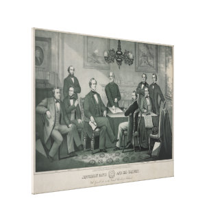 Jefferson Davis and cabinet in Richmond Capitol Stretched Canvas Print