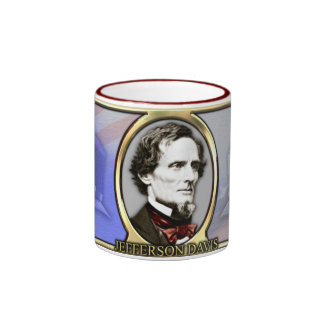 Jefferson Davis Civil War Ringer Mug