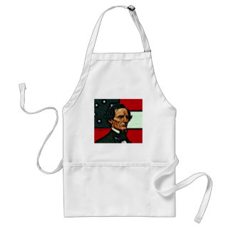 Jefferson Davis, President of the Confederacy Adult Apron