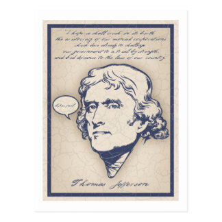 Jefferson- Epic Fail Postcard