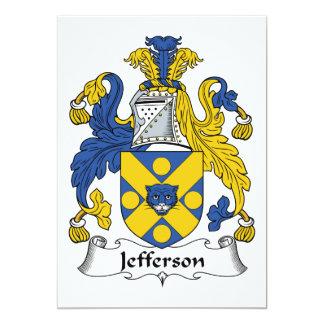 Jefferson Family Crest 13 Cm X 18 Cm Invitation Card
