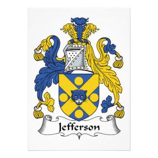 Jefferson Family Crest Custom Invite