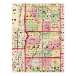 Jefferson, Franklin, Williamson counties Postcard
