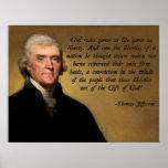 Jefferson God and Liberty Print