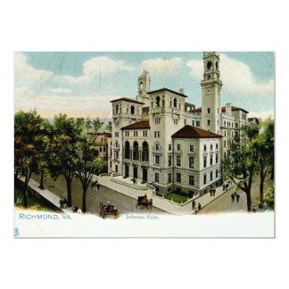 Jefferson Hotel, Richmond, VA Vintage 13 Cm X 18 Cm Invitation Card