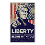 Jefferson Liberty Begins With You Print