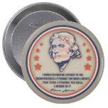 Jefferson Liberty II 10 Cm Round Badge