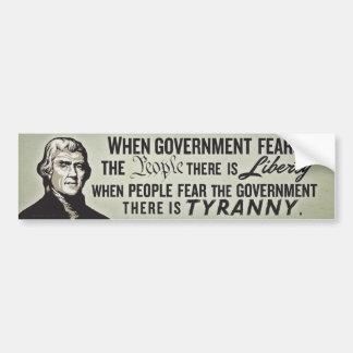 Jefferson Liberty Quote Bumper Sticker