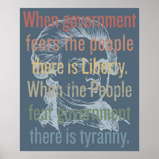 Jefferson Liberty Quote Print