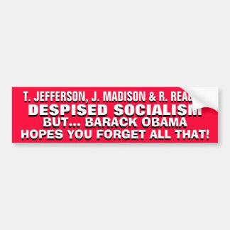 Jefferson, Madison & Reagan DESPISED SOCIALISM! Bumper Stickers