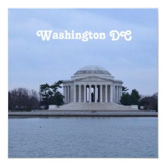 Jefferson Memorial 13 Cm X 13 Cm Square Invitation Card