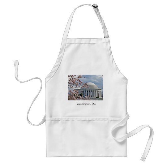 Jefferson Memorial - Cherry Blossoms Standard Apron