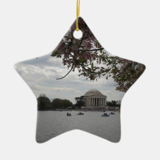 Jefferson Memorial During Cherry Blossom Festival Christmas Ornament