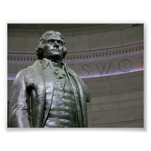Jefferson memorial ststue poster