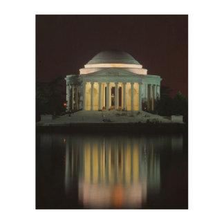 Jefferson Memorial Wood Canvas