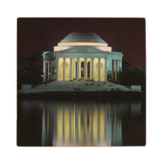 Jefferson Memorial Wood Coaster