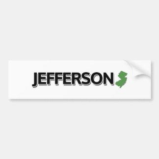 Jefferson New Jersey Bumper Stickers