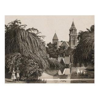Jefferson park Chicago, Mirror Lake (C. 1880) Postcard