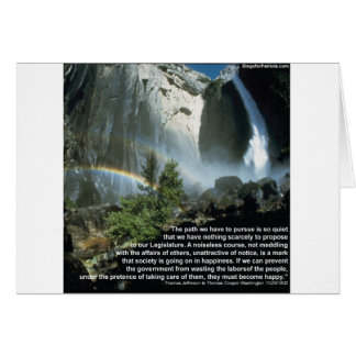 Jefferson quote about limited Government Greeting Card