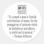 Jefferson Quote sticker