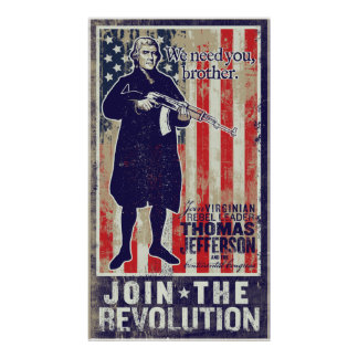 Jefferson Revolution Propaganda Print