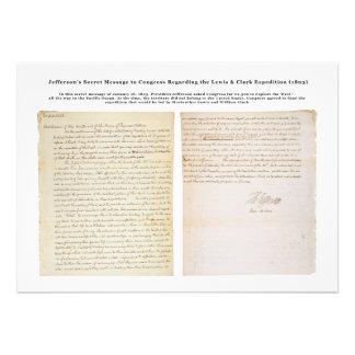 Jefferson s Secret Message to Congress Custom Announcements