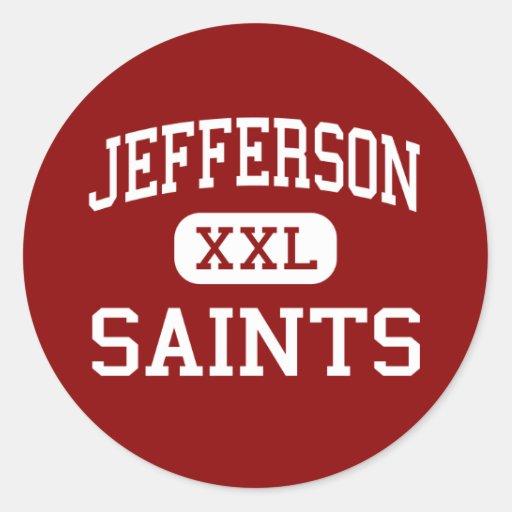 Jefferson - Saints - High - Edgewater Colorado Round Stickers